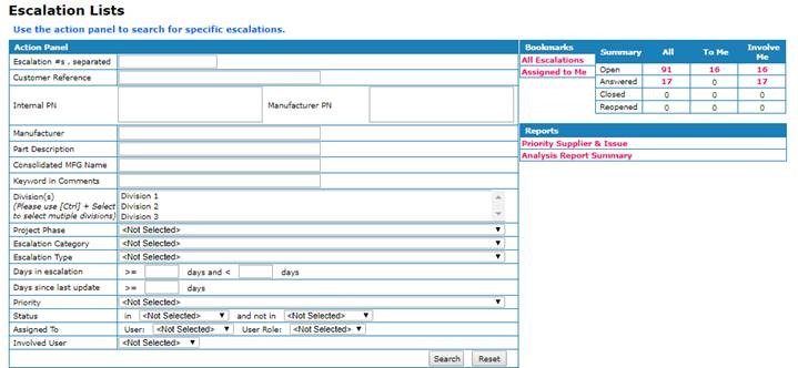 Environmental compliance software screenshot